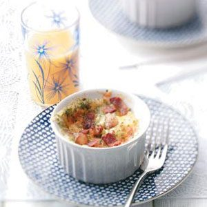 Baked Eggs with Cheddar and Bacon Recipe