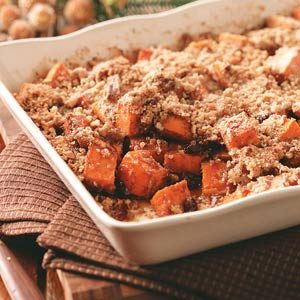 Sweet Potatoes with Pecan-Cinnamon Crunch Recipe