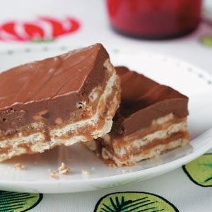 Chocolate Peanut Butter Crisp Bars Recipe