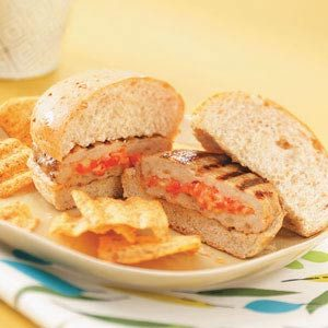 Grilled Stuffed Turkey Burgers Recipe