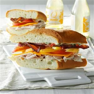 Bacon-Turkey Subs Recipe