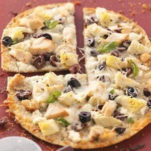 Greek Pizzas for Two Recipe