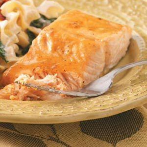 Glazed Salmon  for Two Recipe