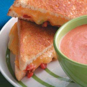 Grilled Tomato-Cheese Sandwiches for Two Recipe