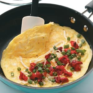 Roasted Red Pepper Omelets Recipe