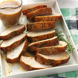 Herbed Pork Roast with Gravy Recipe