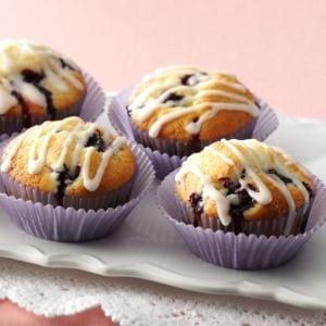 Glazed Lemon Blueberry Muffins Recipe