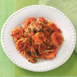 Spicy Shrimp & Peppers with Pasta