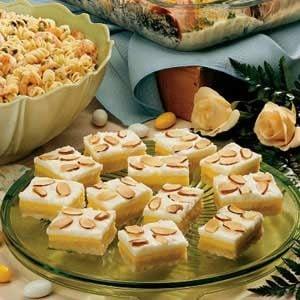 Potluck Almond Bars Recipe