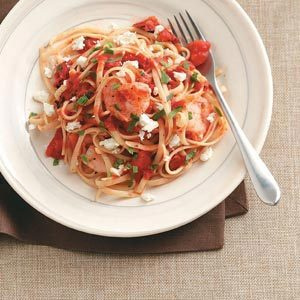 Shrimp & Tomato Linguine Toss Recipe