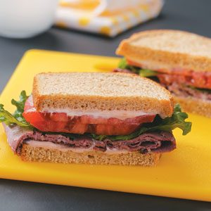 Deli Beef Sandwiches with Horseradish Mayonnaise Recipe