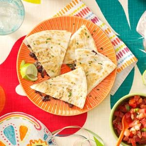 Quick Black Bean Quesadillas Recipe