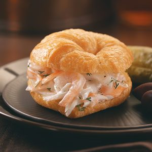 Lobster-Shrimp Salad Croissants Recipe
