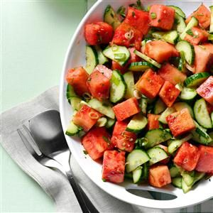 Father's Day Brunch: Minty Watermelon-Cucumber Salad