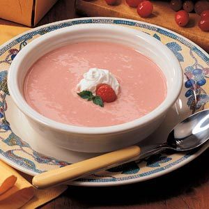 Raspberry-Cranberry Soup for Two