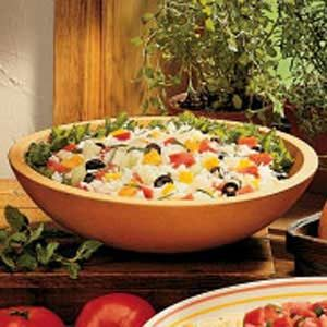 Garden Herb Rice Salad Recipe