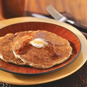 Quick Oatmeal Raisin Pancakes Recipe photo by Taste of Home