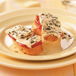 Grilled Greek Crostini Topping Recipe