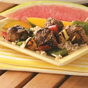 Jerk Pork & Pineapple Kabobs Recipe