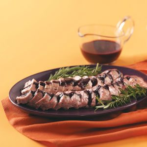 Rosemary Pork with Berry Port Sauce Recipe