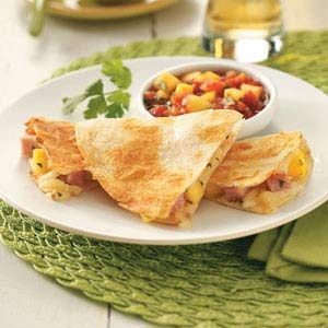 Ham & Mango Quesadillas Recipe
