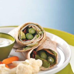 Turkey Wraps with Maple Mustard Dressing Recipe