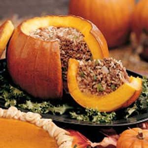 Stuffed Pumpkin Dinner Recipe