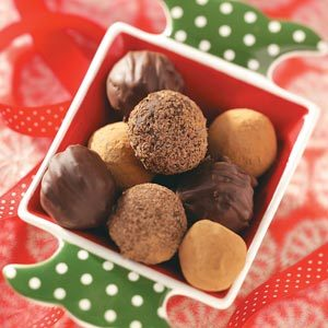 Trio of Chocolate Truffles Recipe