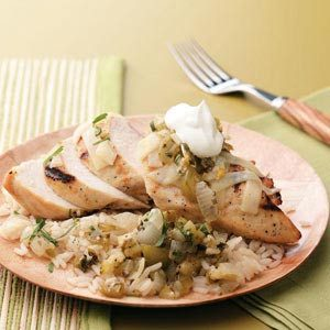 Grilled Tomatillo Chicken Recipe