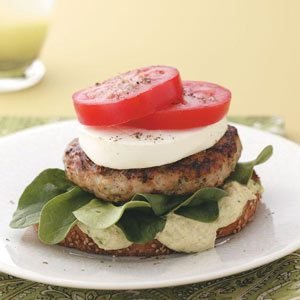 Open-Faced Chicken Avocado Burgers Recipe