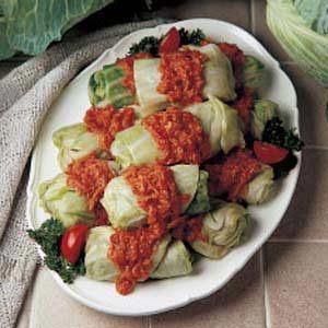 New-World Stuffed Cabbage Recipe