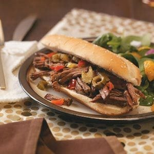 Chicago-Style Beef Sandwiches Recipe