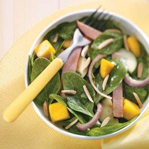 Tropical Spinach & Ham Salad Recipe
