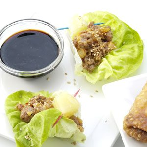 Sausage Pineapple Lettuce Wraps Recipe