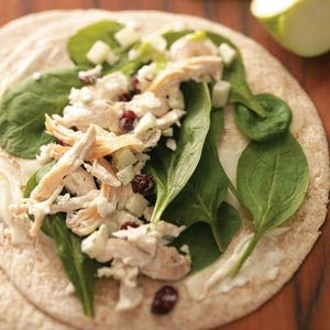 Cranberry Chicken Wraps Recipe