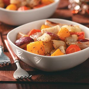 Garlic Roasted Winter Vegetables Recipe
