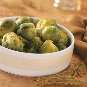 Maple-Dijon Glazed Brussels Sprouts Recipe