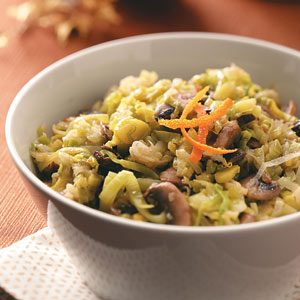 Orange-Scented Leeks & Mushrooms Recipe