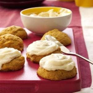 Pumpkin Cookies with Cream Cheese Frosting Recipe