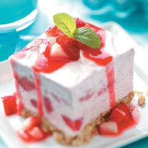 Freezer Strawberry Shortbread Dessert Recipe