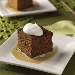 Granny's Gingerbread Cake with Caramel Sauce Recipe