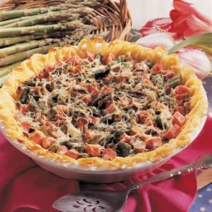 Asparagus Spaghetti Pie Recipe