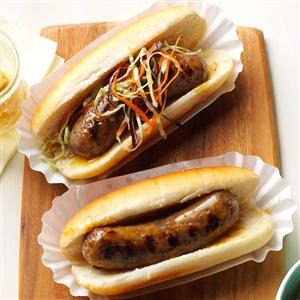 Honey-Mustard Brats Recipe