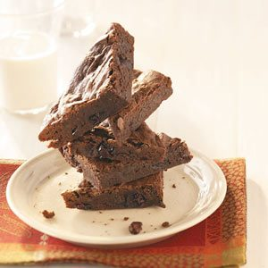Cranberry-Port Fudge Brownies Recipe