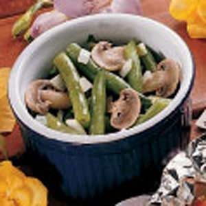 Fresh Green Beans with Mushrooms Recipe