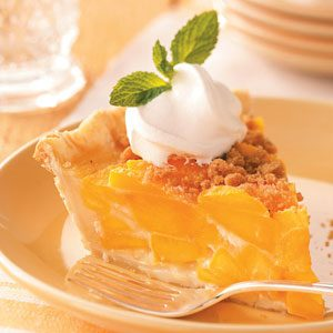 Streusel Peach Pie Recipe