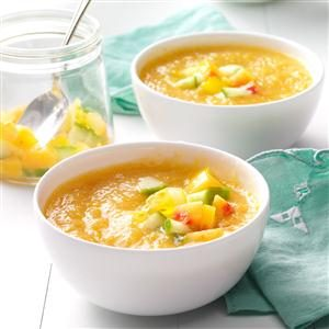 Golden Summer Peach Gazpacho Recipe