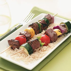 Marinated Veggie Beef Kabobs Recipe photo by Taste of Home