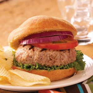 Stuffed Pork Burgers Recipe