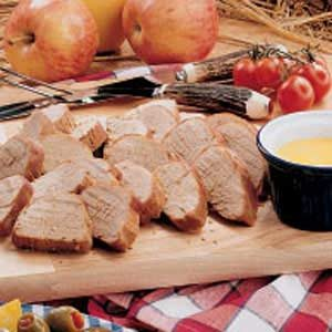 Asian Pork with Hot Mustard Sauce Recipe